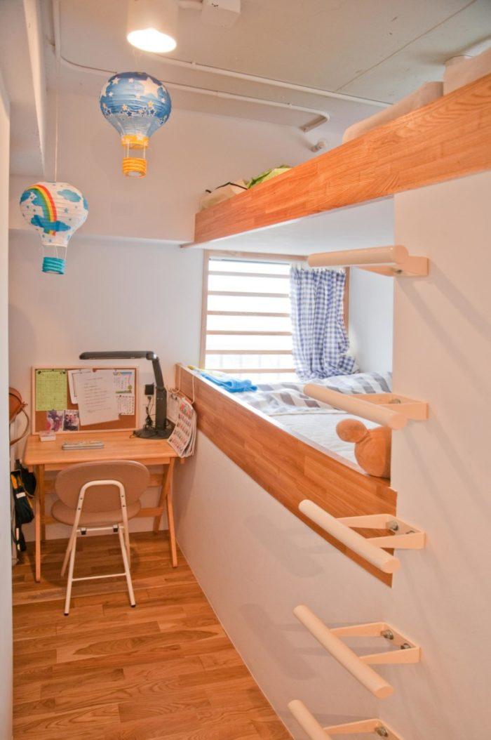 ロフト付き二段ベッド2