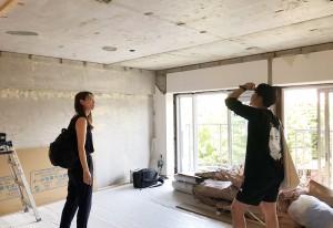 スケルトン状態の中古マンションの室内