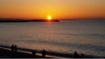 ライオンズプラザ平塚第二湘南ひらつかビーチパークの夕陽