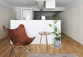 家具で分節する60㎡一室空間