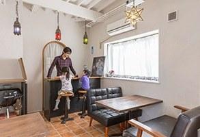 モロッコ風カフェと究極サイズの書斎
